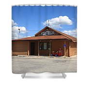 Route 66 - Old Log Cabin 3 Shower Curtain