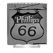 Route 66 - Phillips 66 Petroleum Shower Curtain