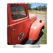 Route 66 Pickup Truck Shower Curtain