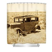 Route 66 Relic Shower Curtain