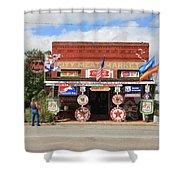 Route 66 - Sandhills Curiosity Shop Shower Curtain