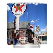 Route 66 - Seligman Arizona Shower Curtain