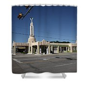 Route 66 - Shamrock Texas Shower Curtain