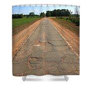 Route 66 - Sidewalk Highway Shower Curtain