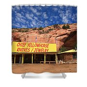 Route 66 Trading Post Shower Curtain