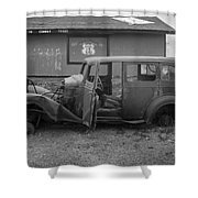 Route 66 Travels Shower Curtain