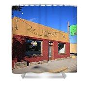 Route 66 - Uranium Cafe Shower Curtain