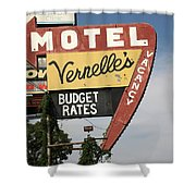 Route 66 - Vernelle's Motel Shower Curtain