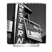 Route 66 - Western Motel 7 Shower Curtain