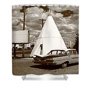 Route 66 - Wigwam Motel 15 Shower Curtain