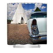 Route 66 Wigwam Motel Shower Curtain