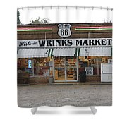 Route 66 - Wrink's Market Shower Curtain