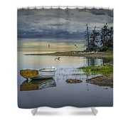 Row Boat By Mount Desert Island Shower Curtain