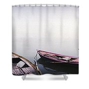 Row Boats In A River, Ganges River Shower Curtain