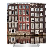 Row Houses In Amsterdam Shower Curtain