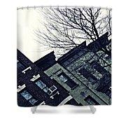 Row Houses In Washington Heights Shower Curtain