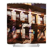 Row Houses - Old Buildings And Architecture Of New York City Shower Curtain
