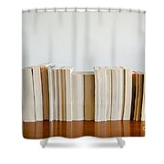 Row Of Books Shower Curtain