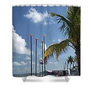 Row Of Sailboats Shower Curtain