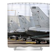 Row Of U.s. Marine Corps Fa-18 Hornet Shower Curtain