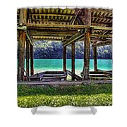 Rowboat Parking Shower Curtain