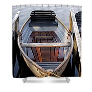 Rowboats At The Schlachtensee Shower Curtain