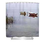 Rowboats On Nonnensee Shower Curtain