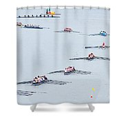 Rowers Arc-natural Shower Curtain