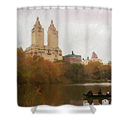 Rowers In Central Park Shower Curtain