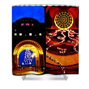 Rowes Wharf Christmas Shower Curtain