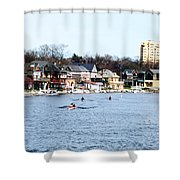Rowing At Boathouse Row Shower Curtain
