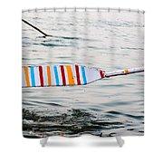 Rowing Oar Shower Curtain