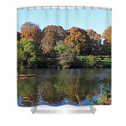 Rowing On The River Thames At Hampton Court London Shower Curtain