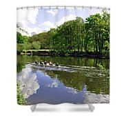 Rowing Practice - Near Branston Shower Curtain