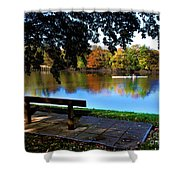 Rowing The River Itchen Shower Curtain