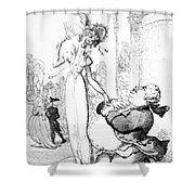 Rowlandson: Cartoon, 1810 Shower Curtain