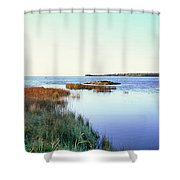 Rowleys Bay, Newport State Park, Door Shower Curtain