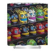 Rows Of Skulls Shower Curtain