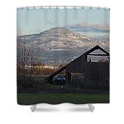 Roxy Ann And The Dark Barn Shower Curtain