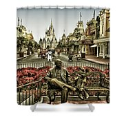 Roy And Minnie Mouse Antique Style Walt Disney World Shower Curtain