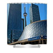Roy Thomson Hall And Cn Tower Shower Curtain