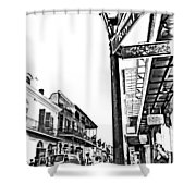 Royal Afternoon Monochrome Shower Curtain