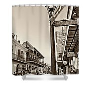 Royal Afternoon Sepia Shower Curtain