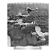 Royal Air Force Formation Shower Curtain