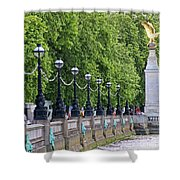 Royal Air Force Memorial By The River Thames 5801 Shower Curtain