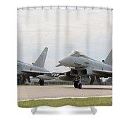 Royal Air Force Typhoon Aircraft  Shower Curtain