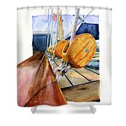 Royal Clipper Ships Tackle Shower Curtain