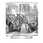 Royal Costume Ball, 1851 Shower Curtain