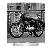 Royal Enfield Goes Berlin Shower Curtain