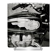 Royal Enfield Motorbike Shower Curtain